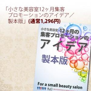 「小さな美容室12ヶ月集客プロモーションのアイデア/製本版」(通常1,296円)