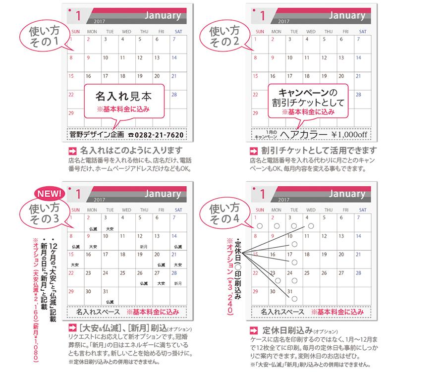 卓上カレンダーの具体的な使い方