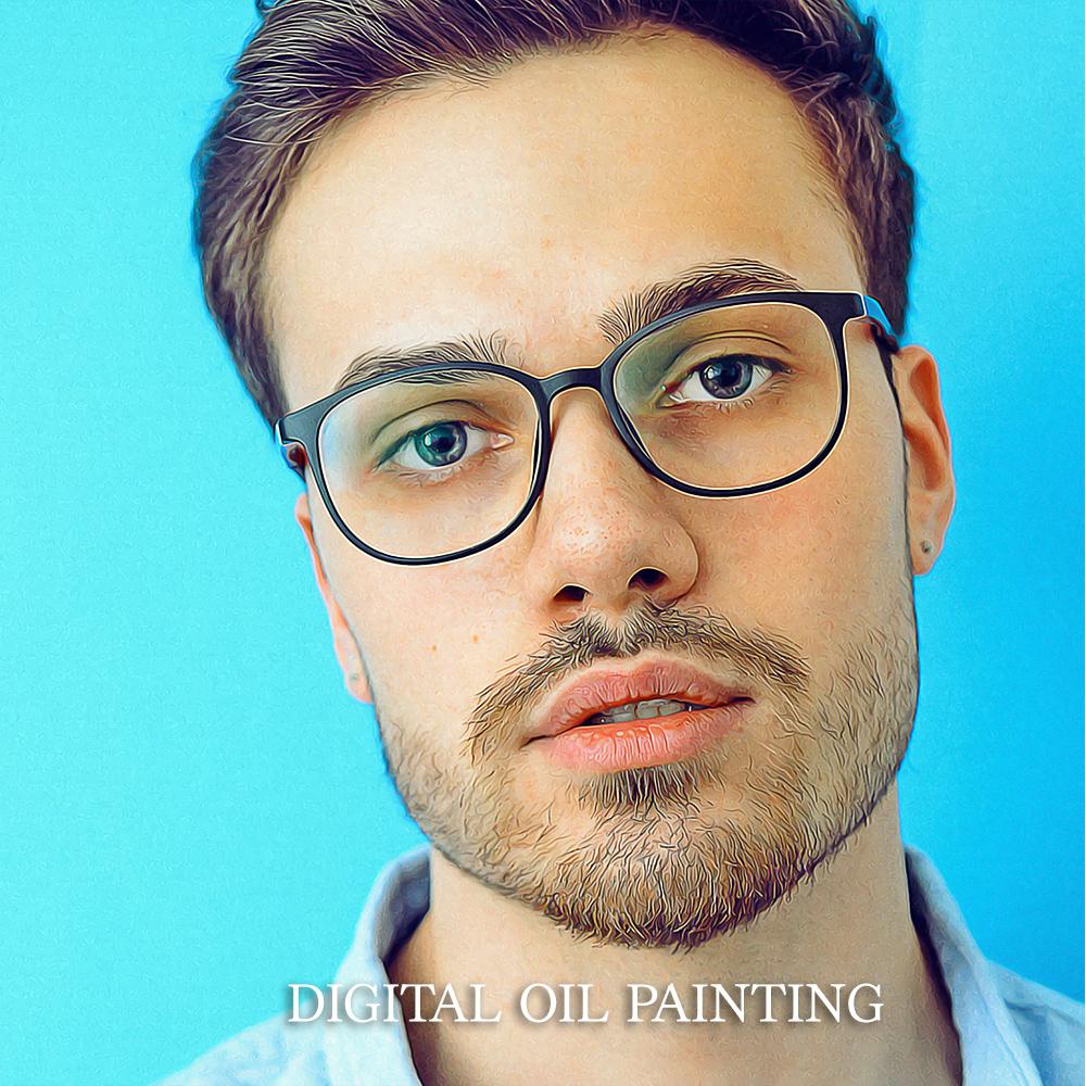 フォトショップで「デジタル油彩加工」