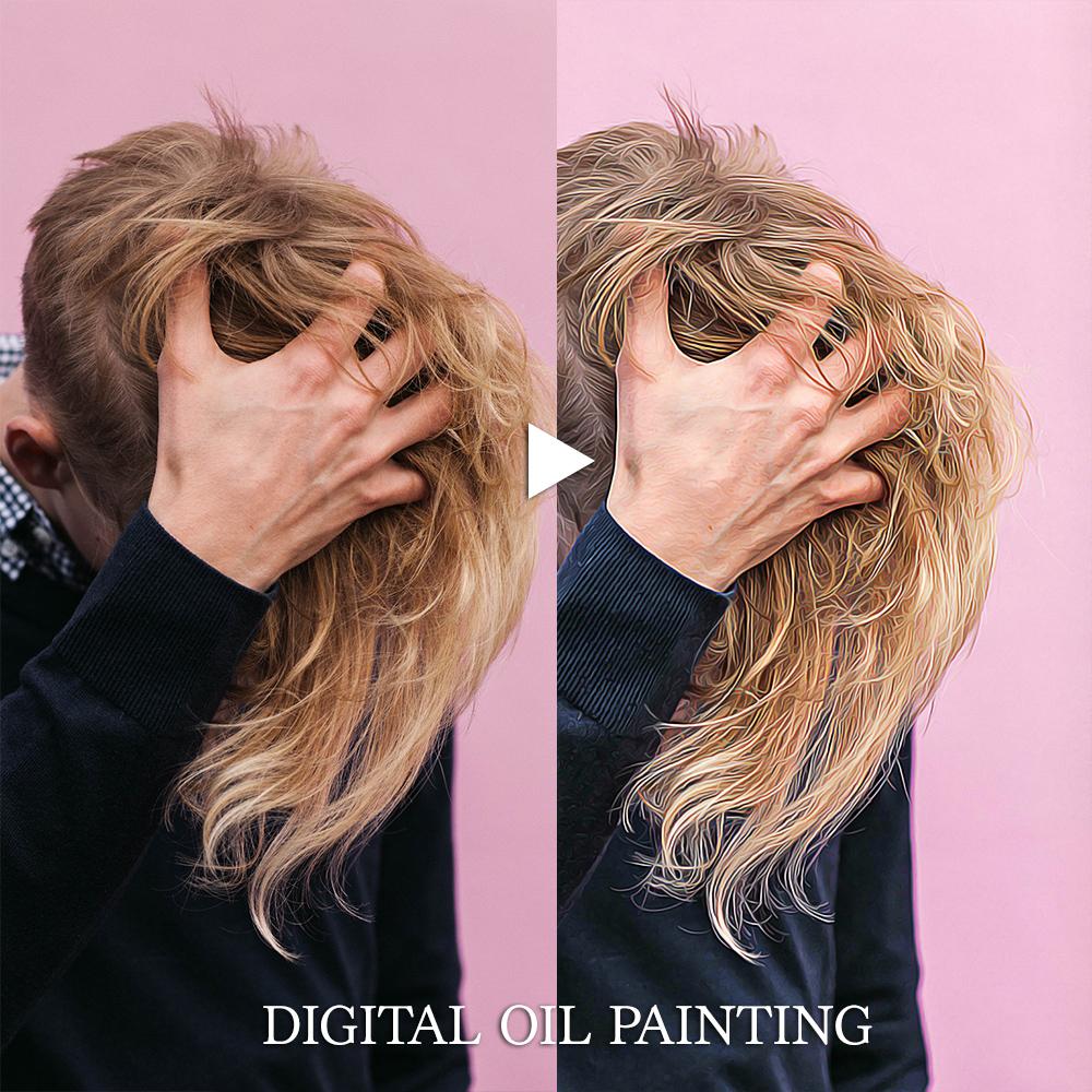 フォトショップで「デジタル油彩加工」油絵のように写真をレタッチする独自のデジタルイメージ加工技術